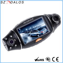 "Hot sale Car Dvr 2.7"" LCD Screen Rotating Dual Len Vehicle DVR Road Dash Video Camera Recorder Traffic Dashboard Recorder"