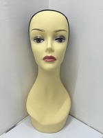 Plastic realistic mannequin female head for bald wig and cap display