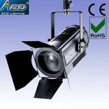 high power 200w 6500k led studio fresnel dmx zoom 15-50degree studio light