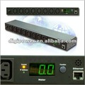Metered PDU 8 ports 230V 16 amp Rack Type