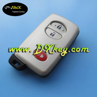 High quality 2+1 buttons remote controller cover with emergency key for Toyota camry key cover toyota key