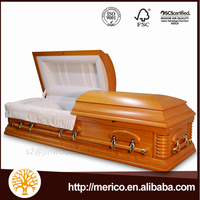 High-quality American style coffins for the dead with casket lining and coffin kits