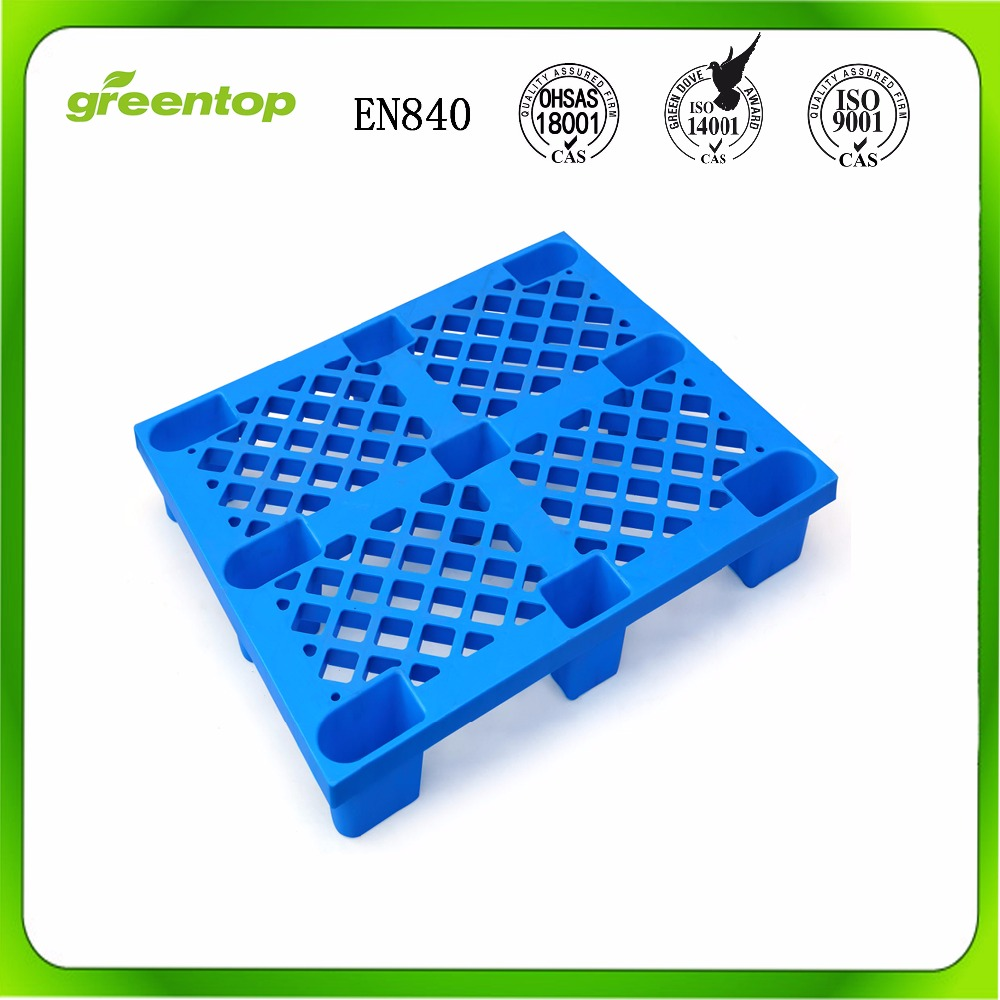 Heavy duty single faced style plastic pallets 1200 x 1000mm
