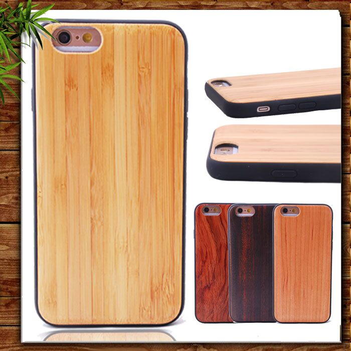 Top Quality Mobile Phone Accessories Hot TPU + Wood High Protective Waterproof Phone Case for iPhone 6