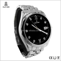 Price of western men watch,hot sale leather strap watches man,316 stainless steel watch