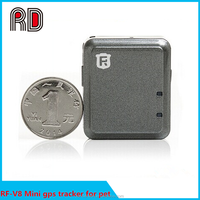 New products RF-V8 coin size mini hidden bicycle gps car tracker
