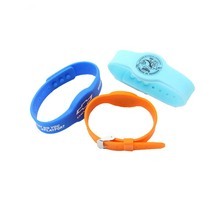 Free sample custom 13.56mhz nfc silicone bracelet programmable rfid adjustable silicone wristband ntag213 / ntag215