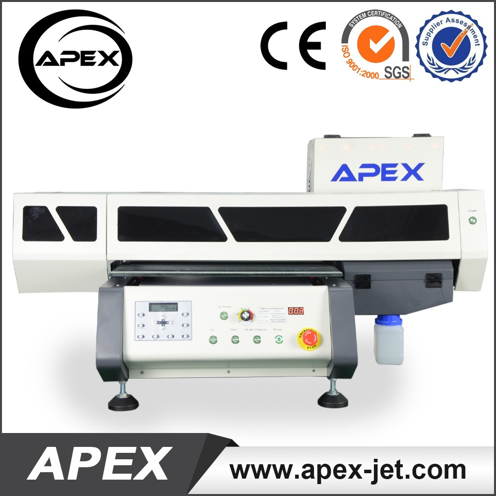Apex Flatbed Small size A4 UV Printer with 8 colors printing