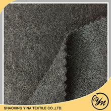 2017 soft touch black mohair nylon wool acrylic polyester blend woven wool fabric for womens garments