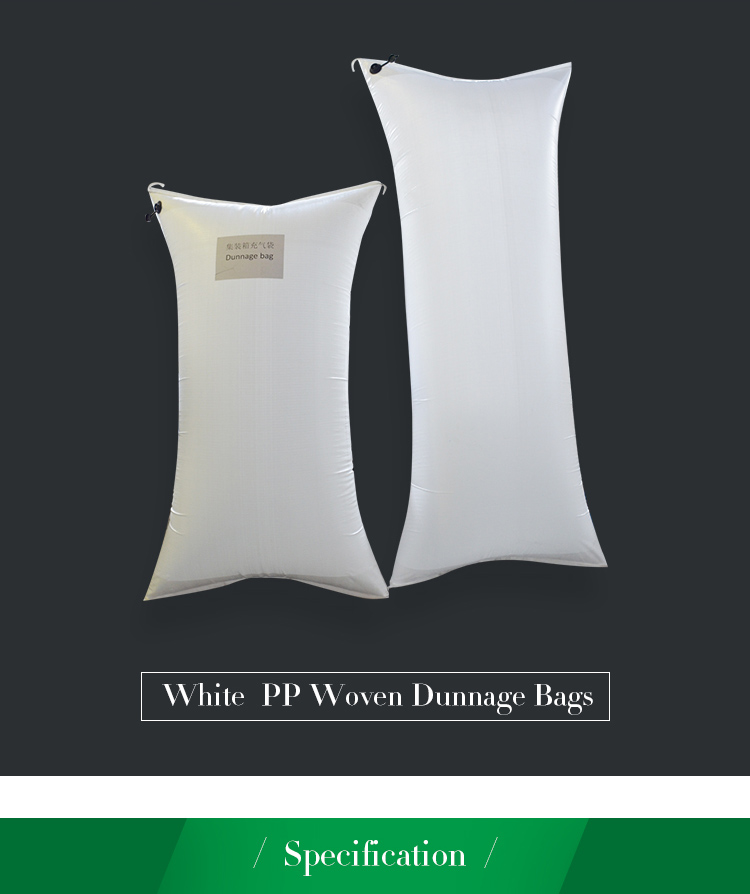 Weiße PP Woven Dunnage Bag für Container