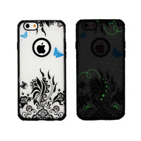 Cute New Glow In The Dark Hard Edge Back Soft Skin Case Cover for Apple iphone 4G 4S