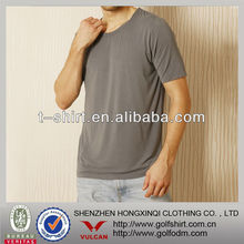 fitness bamboo fiber t-shirts of charcoal color