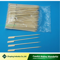 ZHUPING natural disposable flat bamboo skewers flat bamboo sticks