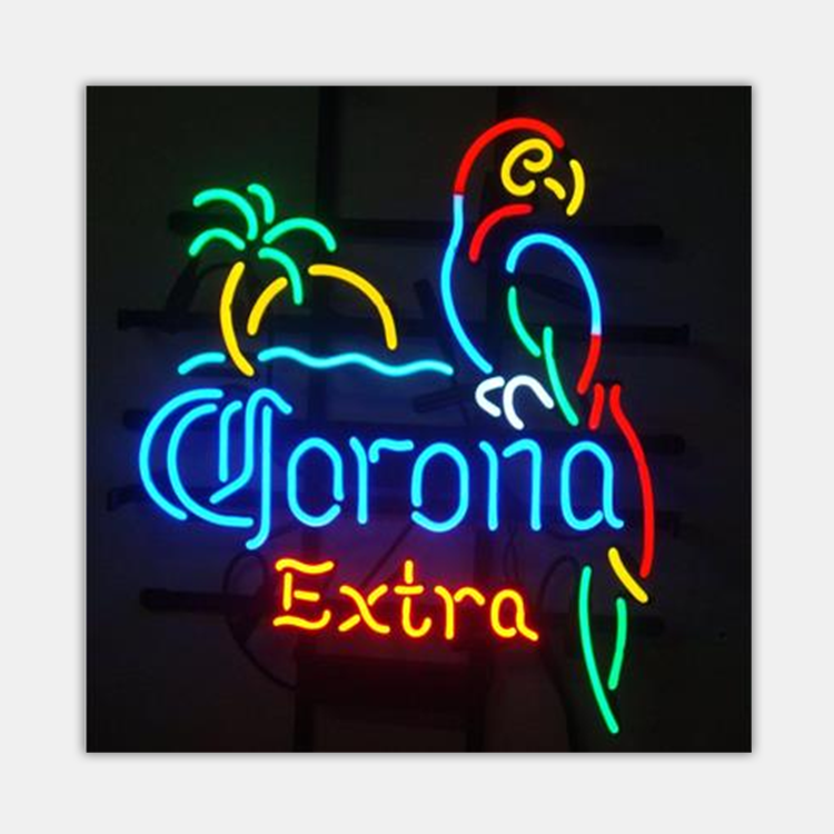 wholesale china factory price corona home decorative glass neon <strong>sign</strong>
