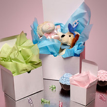 FANCY METALLIC SILVER ONE PIECE FOLDED CANDY BOXES