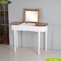 Stylish most expensive dressing table Oval shape flip up mirror makeup table with storage shelf