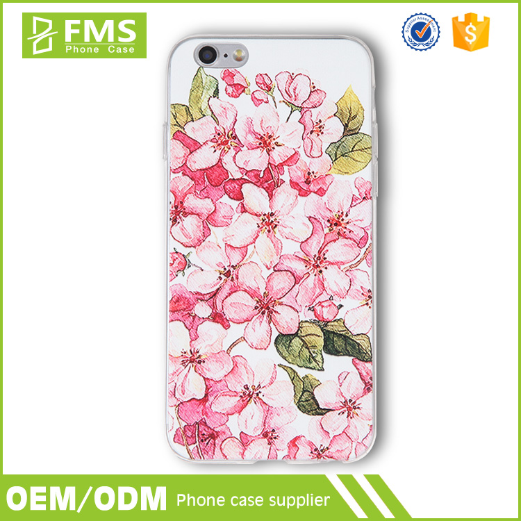 Hot Sell New Design Watercolor Flower Printing Phone Case For iphone 6