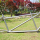 titanium bicycle tandem fat frame custom tandem fat frame with hand bush finished titanium tandem two seat frame