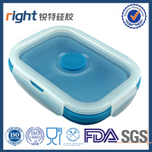 korean collapsible silicone lunch box