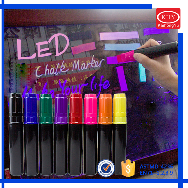 Exuberant Vibrant Colored Shop Window Using Chalk Markers