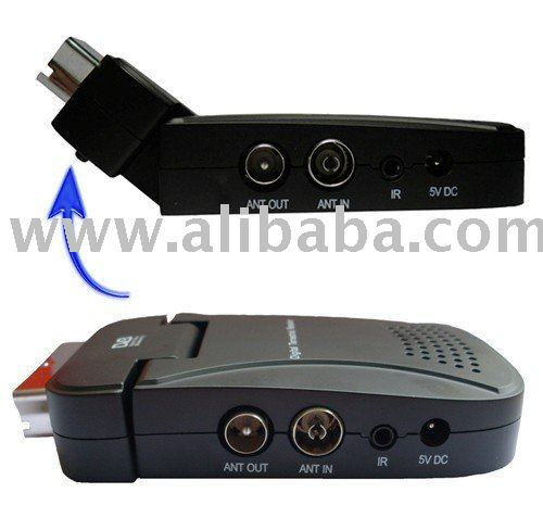 DVB-T Scart Mini TV Receiver Tuner Box With USB Recorder