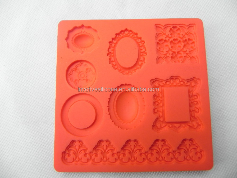 Custom design silicone 3D fondant tools cake decorating