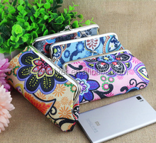 Europe vintage printing fabric long lady wallet/coin wallet