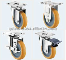 American type polyurethane fixed heavy duty stainless steel caster wheel