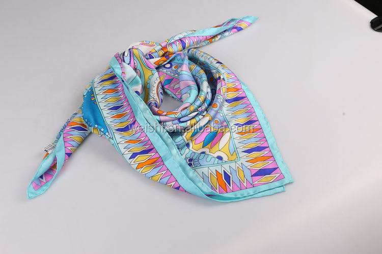 lady fashion square silk scarf