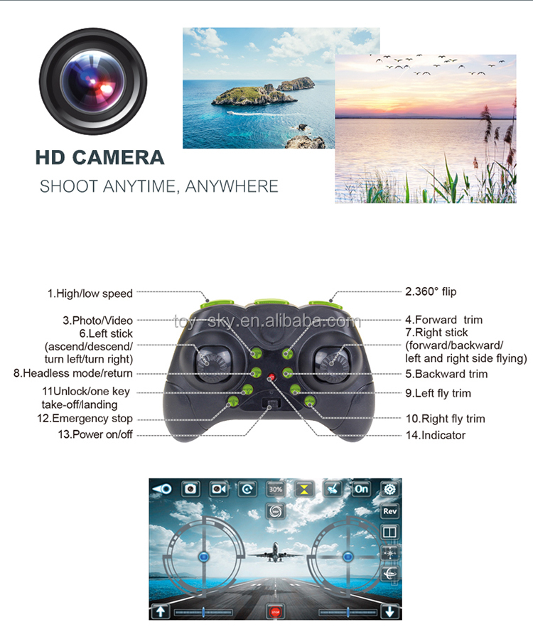 2018 Best selling 2.4G 4CH mini pocket Cheapest drone with heigh set hovering 3D flip for kids