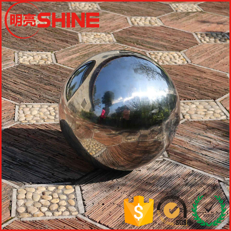 Modern Spherical Garden Sculptures of Large Stainless Steel Hollow Ornaments 1m 1.2m 1.5m Sphere
