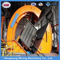 High quality Rotary Rail Car Dump used tipper dumper in perl dust Suppression System