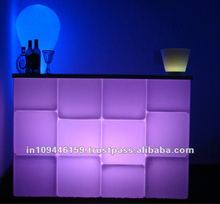 LED Reception Counter /commercial ice cube bar/ led colour changing bar counter/ Lit Bar Counter