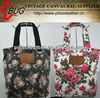 top brand high quality fashion floral printed casual canvas bags