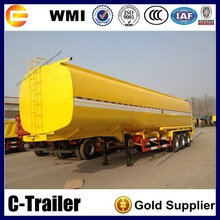 For Gas Station Petroleum Tanker Trailer 3 Axles 42000L Fuel Tank Trailer