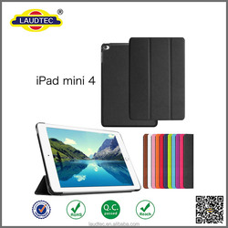 New arrival! folding stand Flip leather case for iPad mini 4
