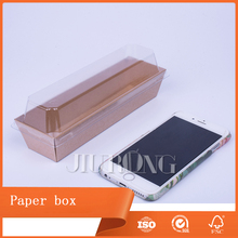 take out kraft food grade paper oil proof paper food box with clear window
