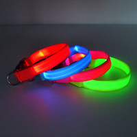 Factory Wholesale Hot Pure Color LED Flashing Pet Collar