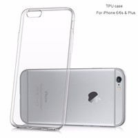 2016 Best Ultra thin transparent phone accessories cheap silicon case for iphone 6