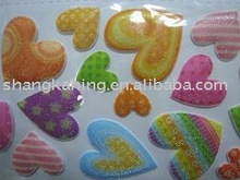 custom 3d lovely bubble puffy spongy Foam Sticker from professional sticker manufacture