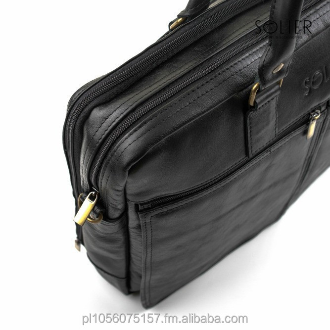 Laptop Bags, Men`s Briefecase, High Quality Genuine Leather, EU manufacturer!