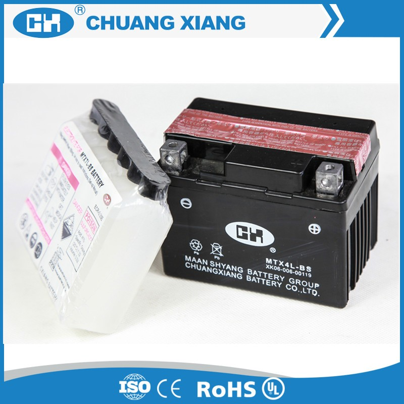 Long Life Maintenance Free Acid Pack 12V 4 Ah Motorcycle Battery