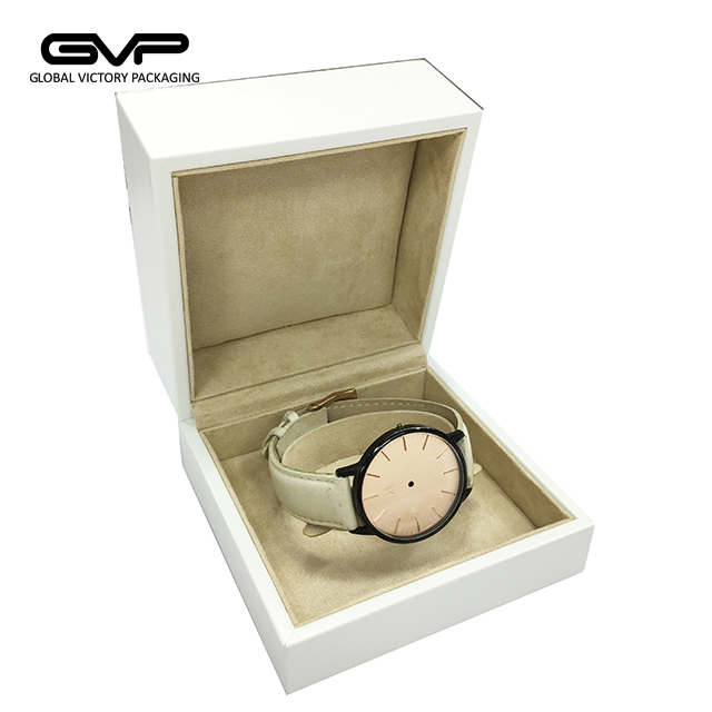 Luxury but Low Price Jewelry Gift Case in PU Leather Packaging Box for Bracelet and Watch