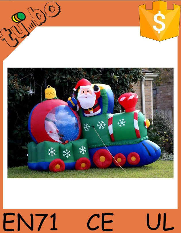 High Quality! inflatable moving santa claus