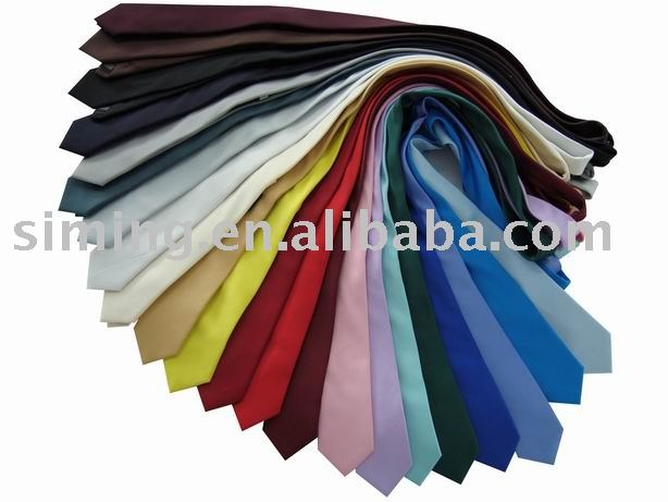 Cheap Solid Polyester Necktie (machine washable polyester neckties)