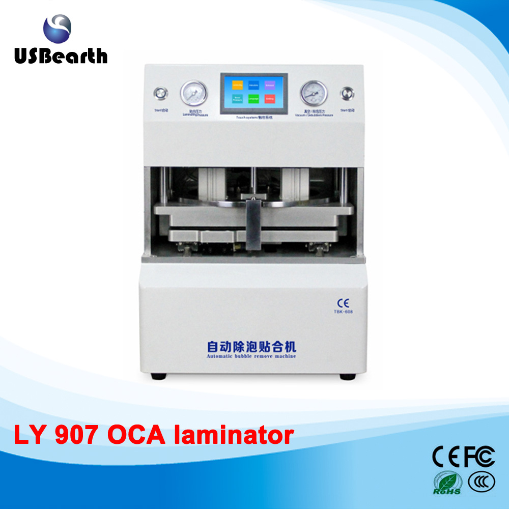 12 inch LY 907 all-in-one OCA laminator no need air compressor vacuum pump defoam machine