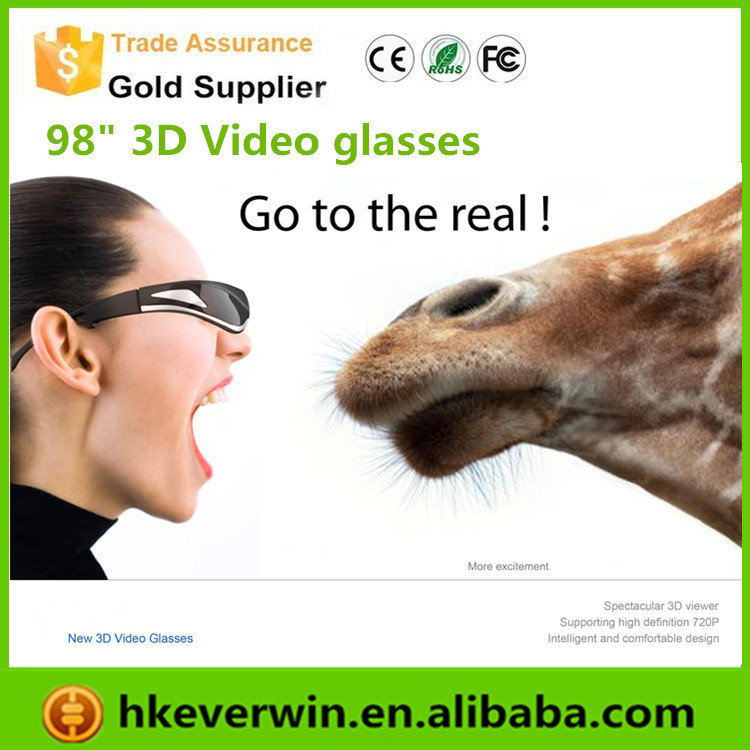 80 inches virtual portable full 1080p resolution Smart 3D Video Glasses