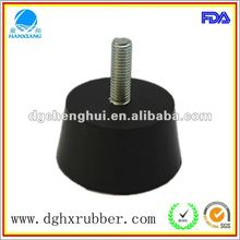 Chinese cone 2012 hot selling manufacturer made rubber feet with screw M 10 for electronics