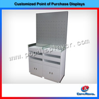 Fshion design shopping mall jewelry display counter and showcase