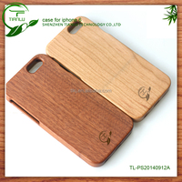 2014 Hot selling best Wooden case for iphone 6 wood mobile cell phone case bamboo custom logo for iphone6 cover case wood